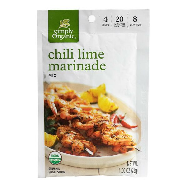 Simply Organic Chili Lime Marinade Mix (1.00 oz) - Frontier Co-op