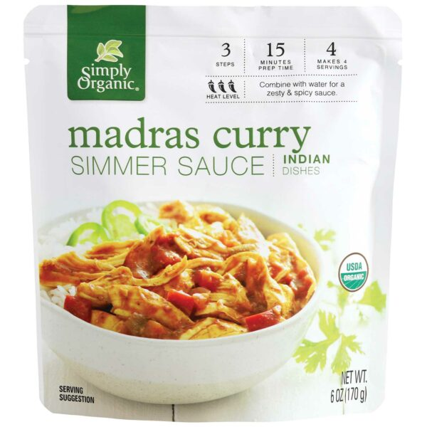 Simply Organic Madras Curry Simmer Sauce (6 fl. oz) - Frontier Co-op